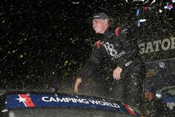 Brett Moffitt, Hattori Racing Enterprises, Toyota Tundra celebrates in victory lane