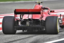 Kimi Raikkonen, Ferrari SF71H, dettaglio posteriore