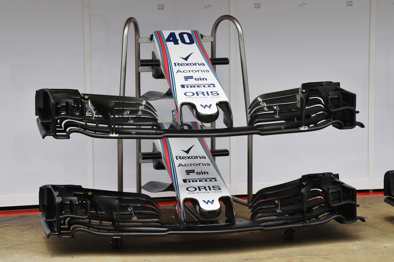 Williams FW41 nose and front wings