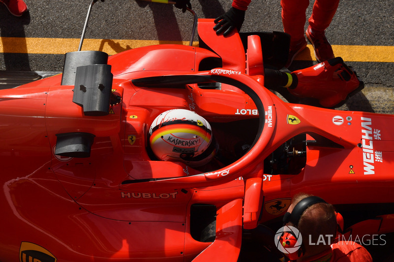 Sebastian Vettel, Ferrari SF71H Halo üzerindeki aynalar