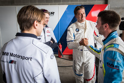 Pole sitters #43 BMW Team Schnitzer BMW M6 GT3: Augusto Farfus, Chaz Mostert, Marco Wittmann, #100 BMW Team SRM BMW M6 GT3: Philipp Eng