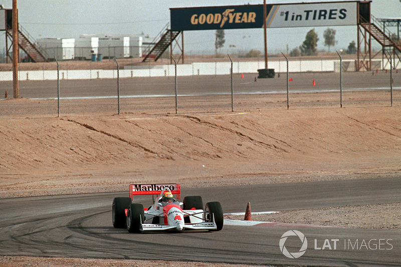 Ayrton Senna testet IndyCar