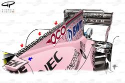 Force India VJM10 engine cover, Singapore GP, captioned