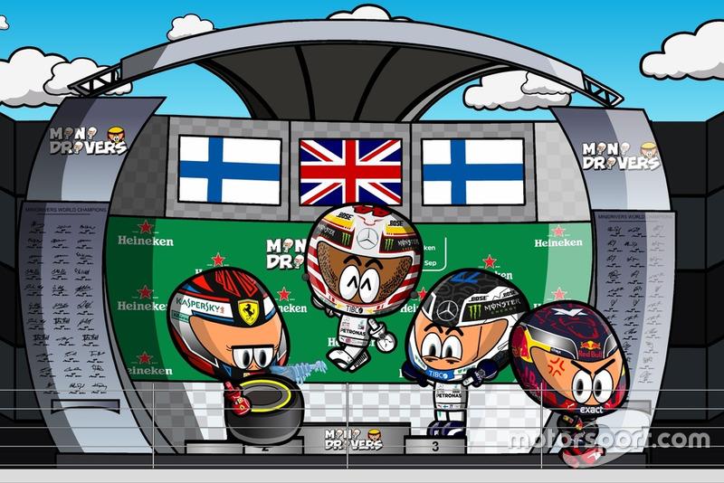 El podio del GP de Italia 2018 de F1, por 'MiniDrivers'