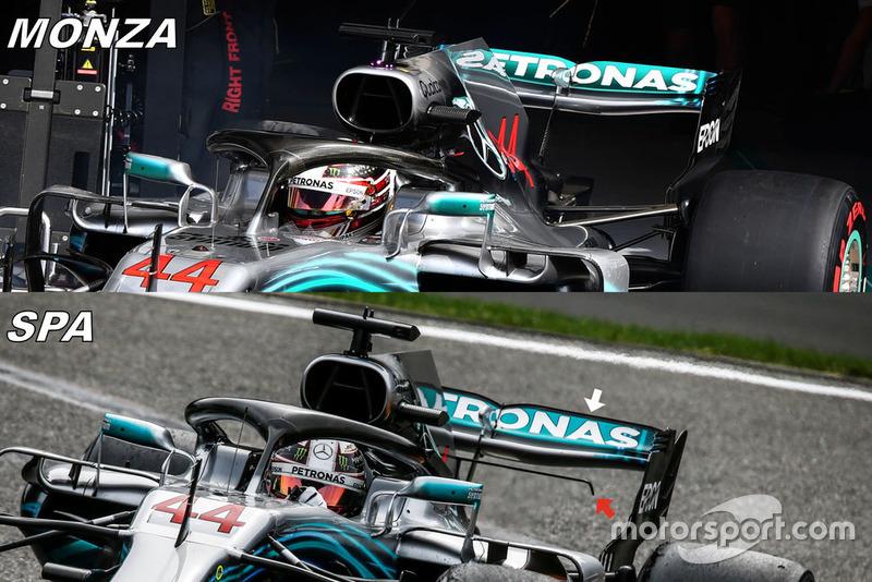 Сравнение Mercedes F1 W09 (Италия / Бельгия)