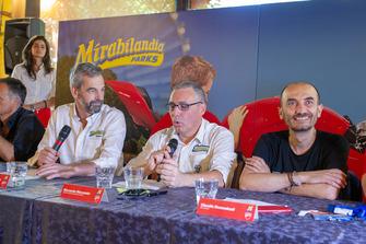 Riccardo Marcante, Direttore generale di Mirabilandia e Claudio Domenicali, AD Ducati, durante la conferenza stampa
