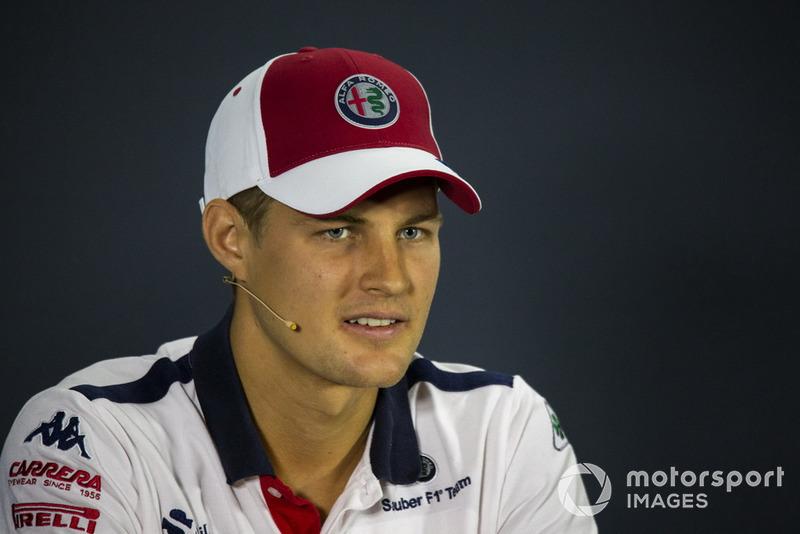 Marcus Ericsson, Sauber in press conference