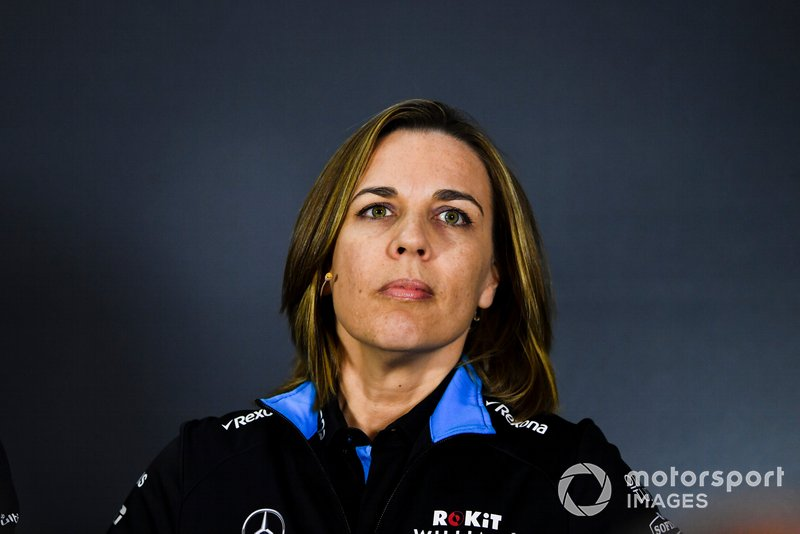 Claire Williams, directrice adjointe, Williams Racing en conférence de presse
