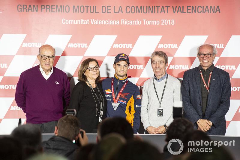 Dani Pedrosa, Repsol Honda Team con sus padres