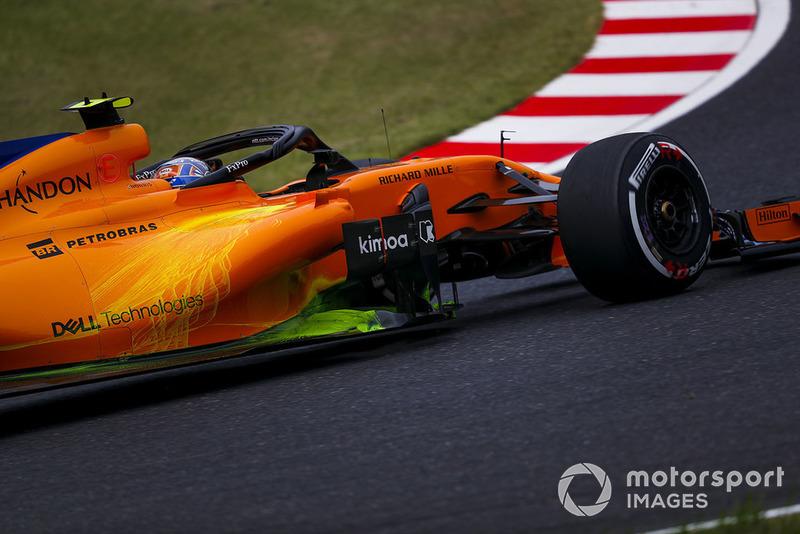 Peinture de flux sur la McLaren MCL33 de Lando Norris