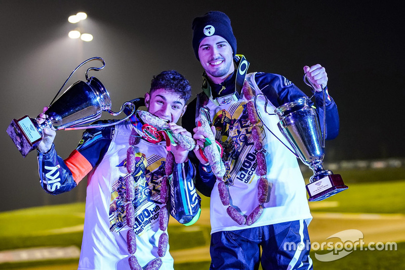 Dennis Foggia y Federico Fuligni celebran