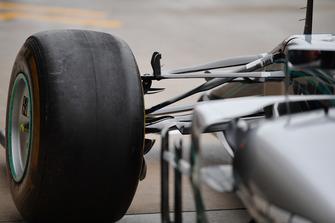 Mercedes AMG F1 front suspension