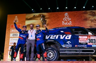 Podium: X-Raid Team Mini: Jakub Przygonski, Tom Colsoul