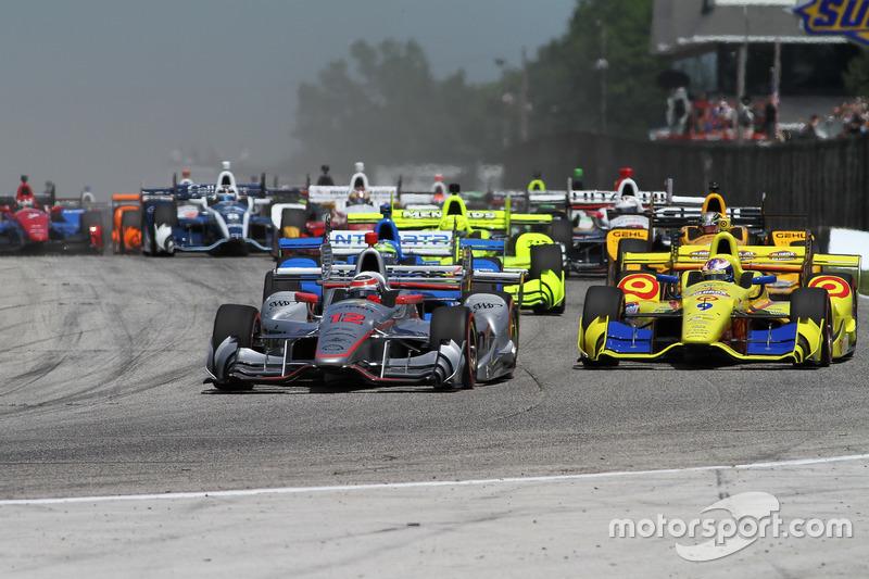 Старт: Уилл Пауэр, Team Penske Chevrolet лидирует