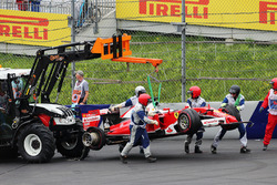 Sebastian Vettel, Ferrari SF16-H retired from the race when his rear tyre exploded