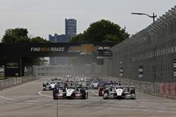 Start: Graham Rahal, Rahal Letterman Lanigan Racing, Honda, führt