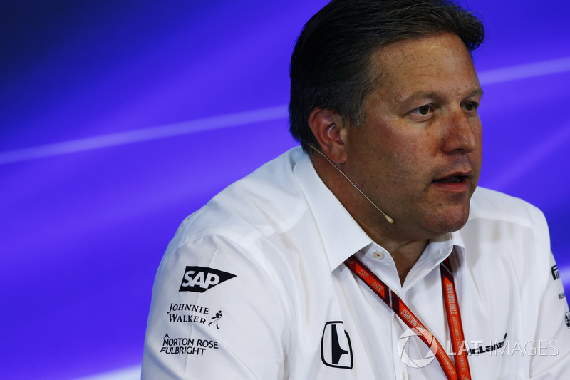Zak Brown, Executive Director, McLaren Technology Group, in the Press Conference