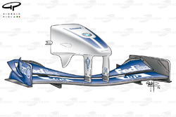 Williams FW24 2002 Monza front wing