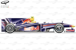 Red Bull RB5 2009 Melbourne side view
