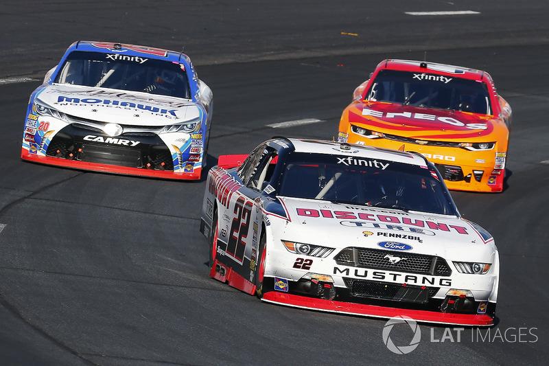 Brad Keselowski, Team Penske Ford, Kyle Larson, Chip Ganassi Racing Chevrolet and Ryan Preece, Joe G