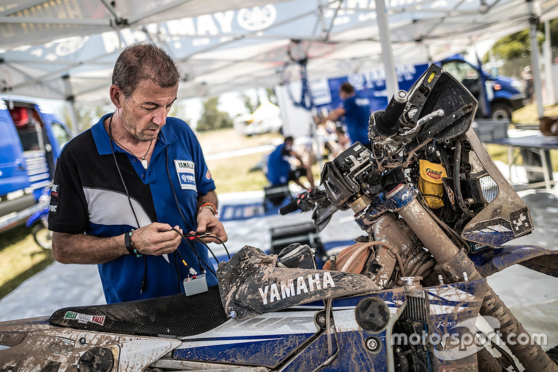 Yamaha Official Rally Team area