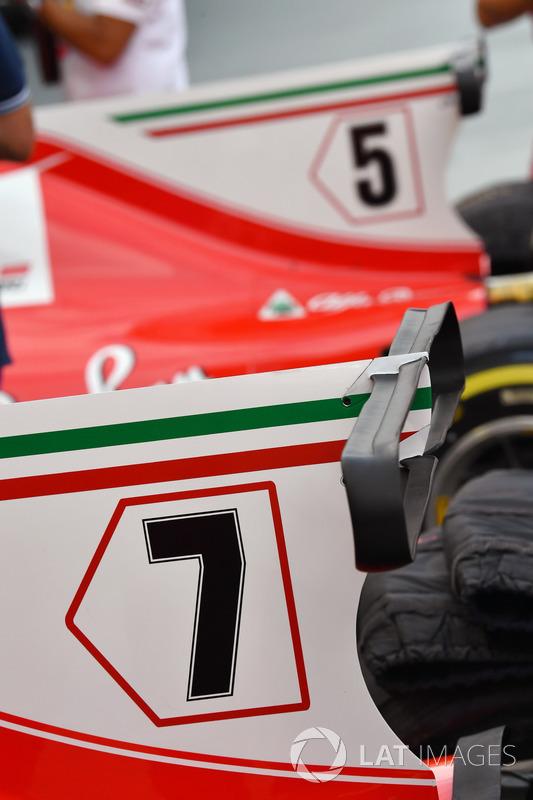 Aileron du capot moteur de la Ferrari SF70H