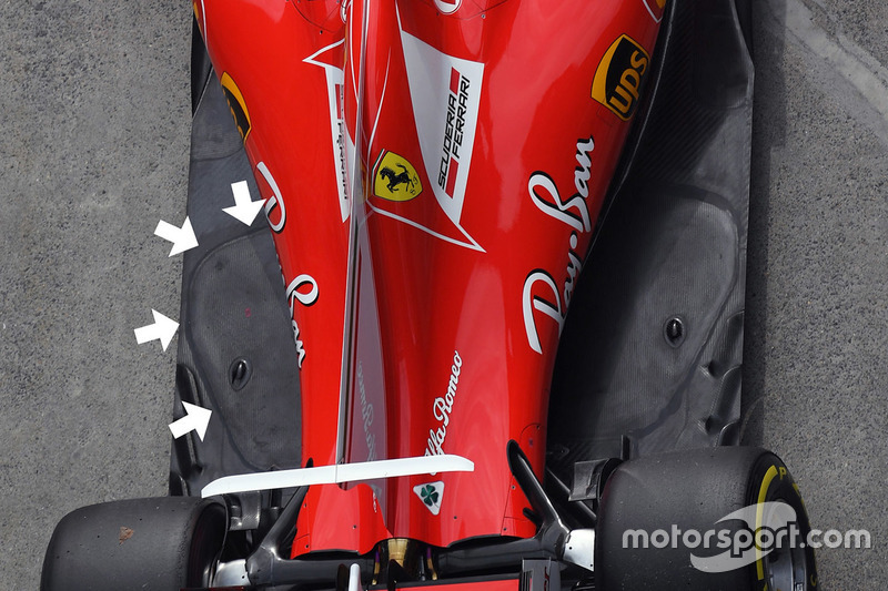 法拉利SF70H赛车底板细节图