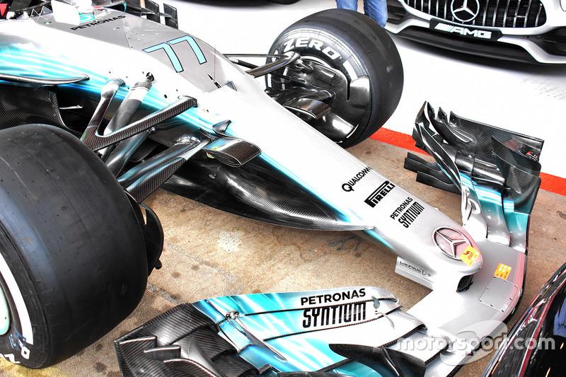 Detail depan Mercedes AMG F1 W08