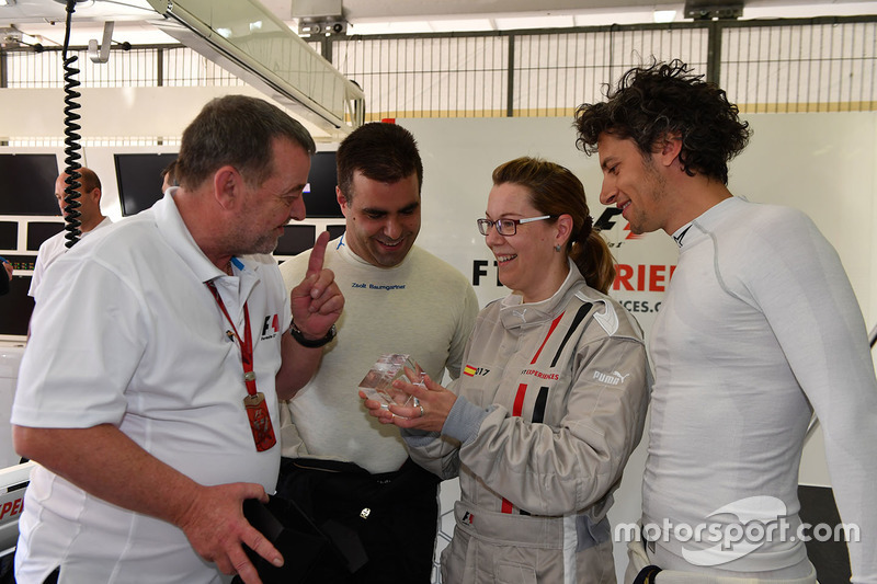 F1 Experiences 2-Seater passenger, Paul Stoddart, Zsolt Baumgartner, F1 Experiences 2-Seater driver and Patrick Friesacher, F1 Experiences 2-Seater driver