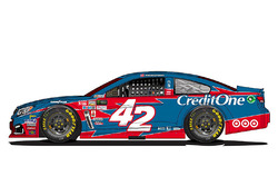 Throwback-Design: Kyle Larson, Chip Ganassi Racing Chevrolet