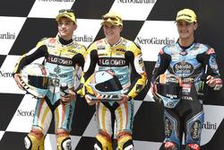 Polesitter Gabriel Rodrigo, RBA Racing Team; 2. Juan Francisco Guevara, RBA Racing Team; 3. Aron Canet, Estrella Galicia 0,0