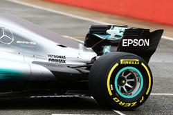 Mercedes AMG F1 W08 rear wing detail