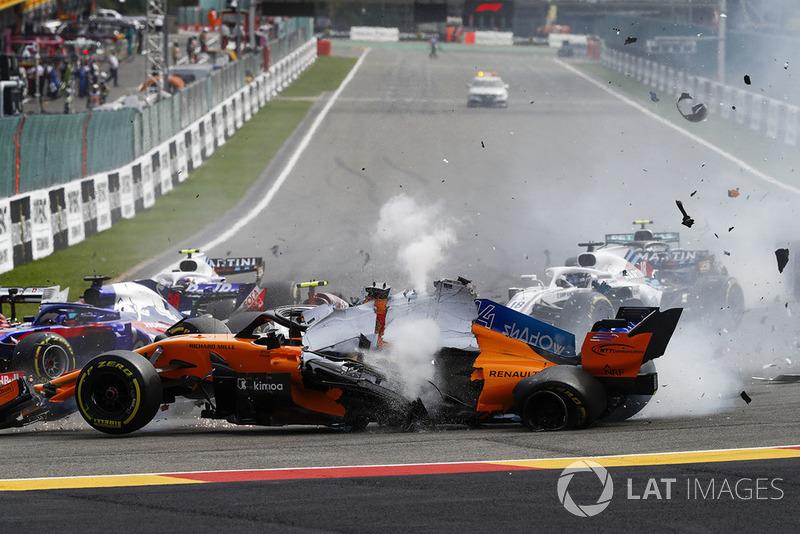 Аварія на старті Гран Прі Бельгії