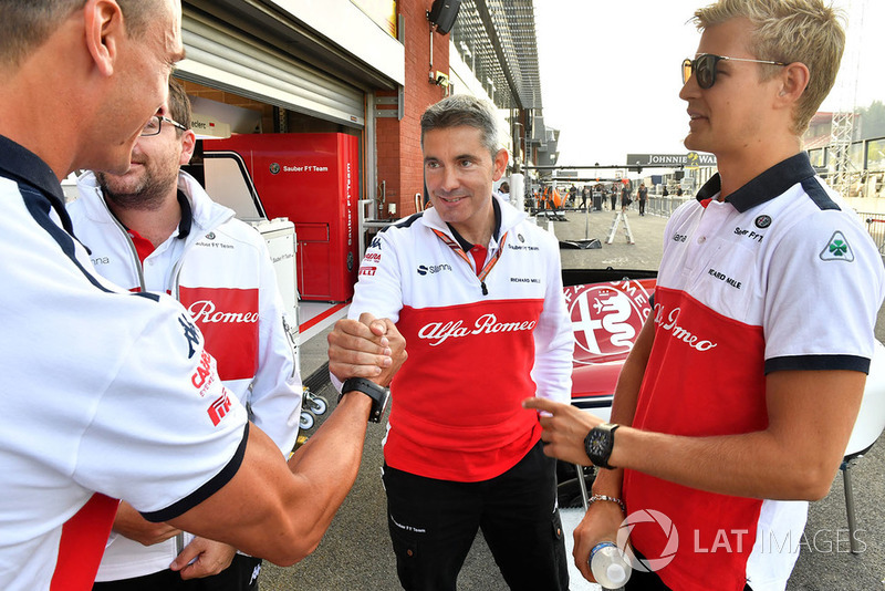 Marcus Ericsson, Sauber and Xevi Pujolar, Sauber Head of Track Engineering