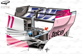 Force India double top wing, Monaco