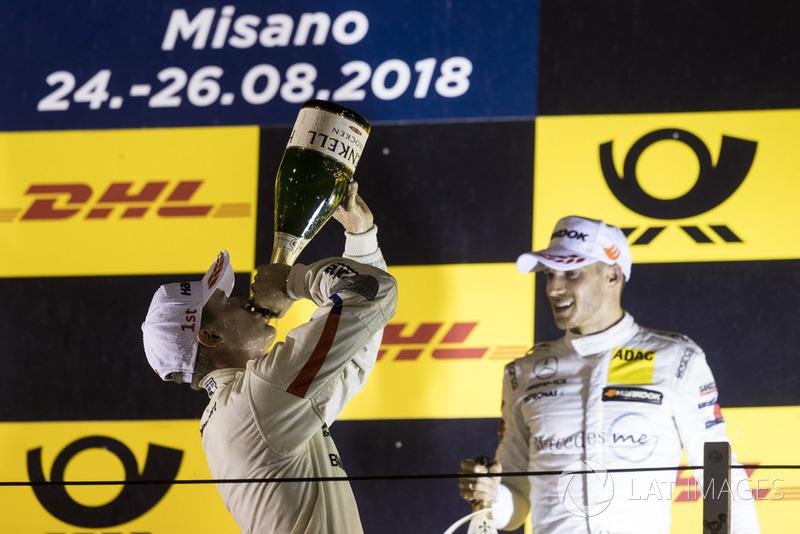 Podium: Race winner Joel Eriksson, BMW Team RBM and second place Edoardo Mortara, Mercedes-AMG Team HWA