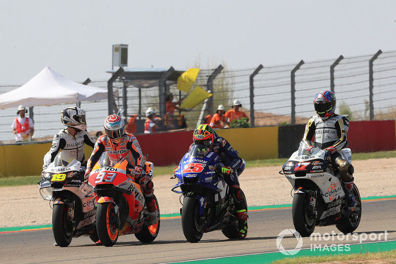 Марк Маркес, Repsol Honda Team, Маверік Віньялес, Yamaha Factory Racing, практикують старт