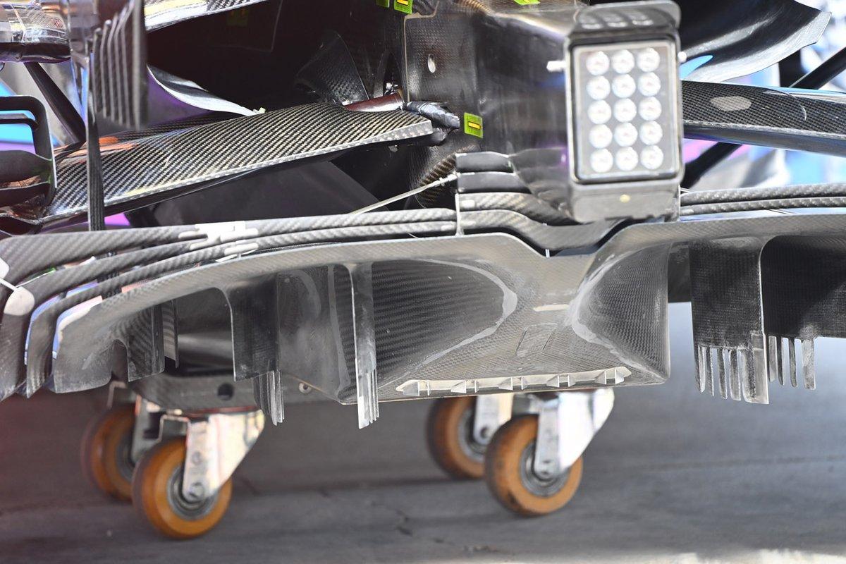 Detalle del difusor del McLaren MCL35