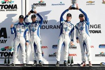 Podium: #37 LA Honda World Racing Honda Civic TCR, TCR: Tom O'Gorman, Mike LaMarra, podium, #73 LA Honda World Racing Honda Civic TCR, TCR: Shelby Blackstock, Colin Mullan, Mat Pombo