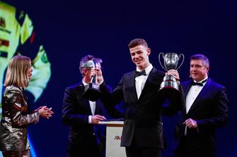 McLaren Autosport BRDC Award winner Tom Gamble on stage