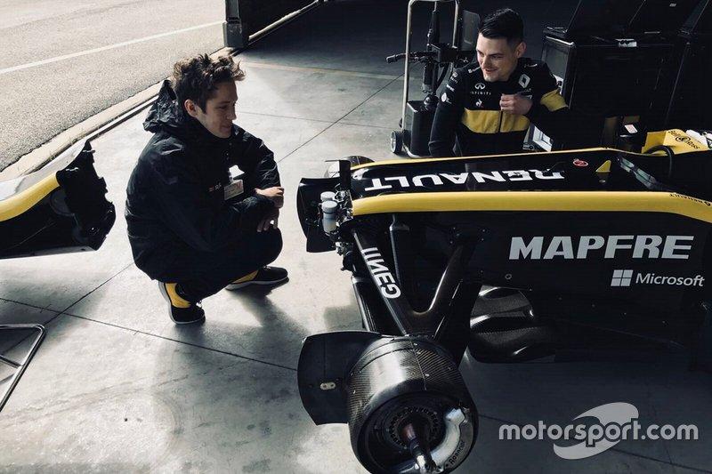 Sacha Fenestraz guida la Lotus E20