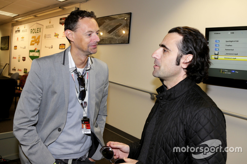 Charles Bradley, Motorsport.com met Dario Franchitti, Grand Marshal
