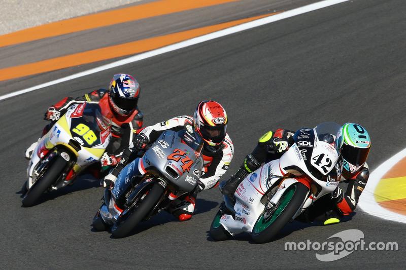 Marcos Ramirez, Platinum Bay Real Estate, Mahindra; Tatsuki Suzuki, CIP-Unicom Starker, Mahindra; Karel Hanika, Freundenberg Racing Team, KTM