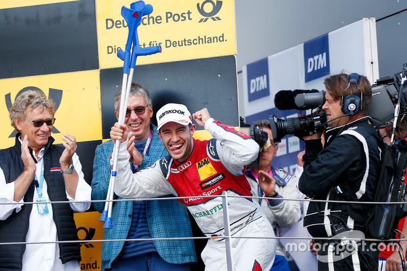 Подіум: друге місце Майк Роккенфеллер, Audi Sport Team Phoenix, Audi RS 5 DTM