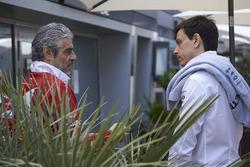 Maurizio Arrivabene, Team Principal, Ferrari, Toto Wolff, Executive Director Mercedes AMG F1