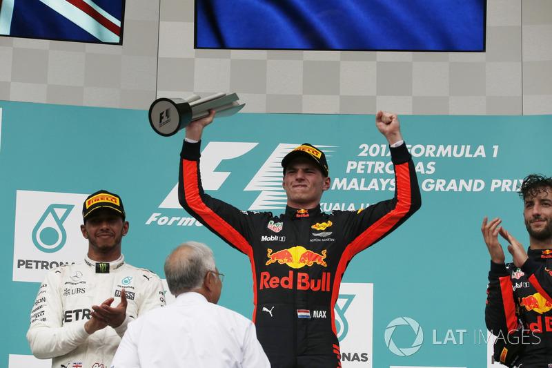 Podium: Race winner Max Verstappen, Red Bull Racing celebrates