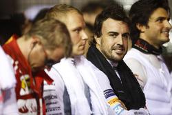 Fernando Alonso, McLaren, during the national anthem