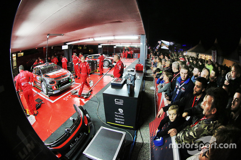 Citroën World Rally Team area