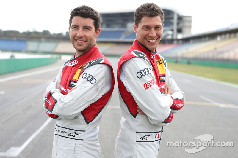 Mike Rockenfeller, Loic Duval, Audi Sport Team Phoenix