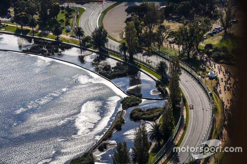 Vista aérea de la carrera